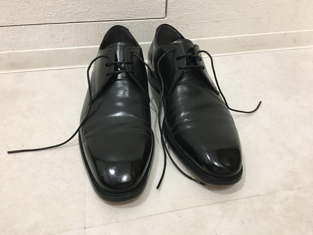 革靴の履き方